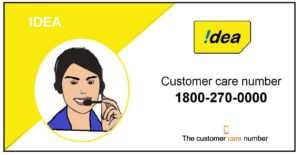 Idea customer care number